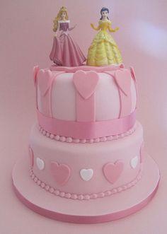 Disney Princess themed birthday cake by Vintage House Bakery, via Flickr