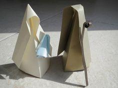 Origami nativity scene