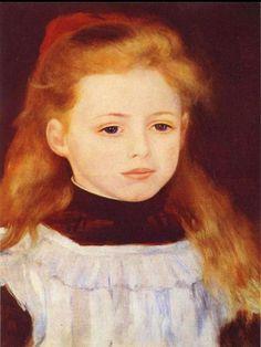 Pierre Renoir «Little Girl in a White Apron