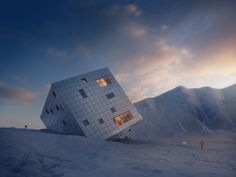 Sustainable Cube Lodge Sits High in the Mountains of Slovakia (8 pictures)
