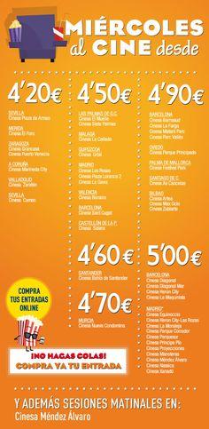 Os traemos los cines baratos de Madrid. Días del espectador, entradas reducidas, carnés y muchas ofertas para hacer frente a la subida del IVA en los cines.