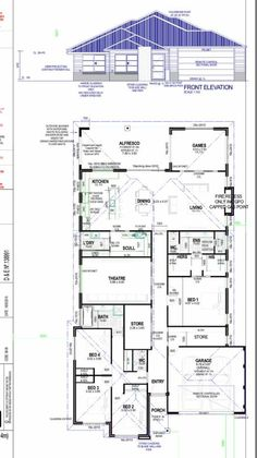 Pin by nyasha kavhmbra on hsh - dream house House Plans And More, Best House Plans, Dream House Plans, House Floor Plans, Dream House Drawing, Circle House, Pool House Designs, Plans Architecture, Architectural House Plans