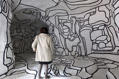 A woman looks at 'Le jardin d'Hiver,' a work by French artist Jean Dubuffet in the new permanent collection of the national Modern Art Museum at the Georges Pompidou center on April 5 in Paris. Photo by Francois Guillot/ AFP/ Getty Images Art Beat, Anselm Kiefer, Keith Haring, Museum Of Modern Art, Art Museum, Pompidou Paris, Jean Dubuffet, Centre Pompidou, Naive Art