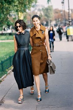 Paris Fashion Week - Yasmin and Caroline