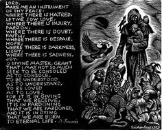 Prayer of St. Francis by Fritz Eichenberg