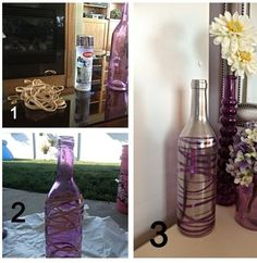 DIY Rubber Band Wine Bottle! www.facebook.com/GetyourACEinSHAPEwithAmber
