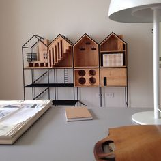 """Shaped like houses, a dinnerware storage cabinet, named after the Thai word for """"home,"""" exudes warmth and good cheer while presenting the perfect place for everything. Pet Furniture, Design Furniture, Kitchen Furniture, Wooden Furniture, Furniture Ideas, Design Awards, Shelving, Storage Shelves, Kids Room"""