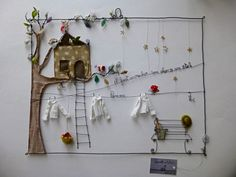 Wire & fabric art combo? I think this is fabulous and how creative, kudos!