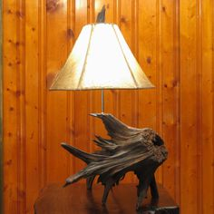 Stump Table Lamp  Cedar Driftwood Root Lamp by MissouriNatureArt, $189.00