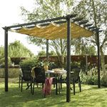 I need a canopy for a pergola to provide shade. What's the best way to achieve this?