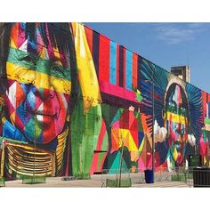 Street Art #Rio2016   Painel: Eduardo Kobra