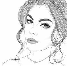 girl, art und draw Bild bei We Heart It Tumblr Girl Drawing, Girl Drawing Sketches, Tumblr Drawings, Cute Girl Drawing, Girl Sketch, Outline Drawings, Art Drawings, Outline Art, Amazing Drawings
