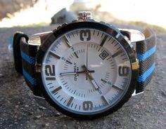Ett snyggt armbandsur från Eyki. Det visar datum och har armband i tyg.  Högsta kvalite och perfekt passform. Det sköna armbandet i tyg gör att man kan ha detta ur hela dagen utan att det blir obekvämt.  Herrur elller damur? stilen passar alla.  Storlek Bredd: 4cm Längd: 25cm #eyki #watch #watches #white #cool #klocka #klockor #armbandsur #nato #fashion #mode