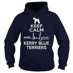 Keep calm and love Kerry Blue Terrier  Hoodie T-Shirts, Hoodies ==►► Click Image to Shopping NOW!