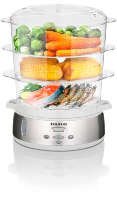 View all the Steamers products offered by Creative Housewares Domestic Appliances, Steamer Recipes, How To Make Coffee, Kitchen Appliances, Cooking, Taurus, Bucket, Food, Digital