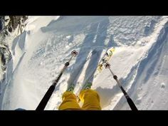 Skiiers Matthias Giraud and Stefan Laude outrun a massive avalanche in the French Alps with an amazing surprise ending!
