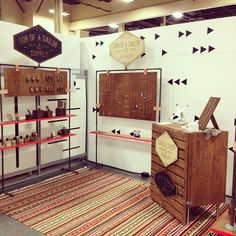 Love this industrial southwest look from a Son of a Sailor trade show booth