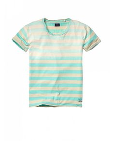 Sun-faded colourful striped short-sleeved tee - T-shirts - Official Scotch & Soda Online Fashion & Apparel Shops