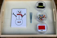 Montessori Inspired Snowman Color Activities (good website)