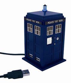 """Doctor Who"" Doctor Who Tardis USB 4 Port HUB Station Non Adaptor at BBC Shop"