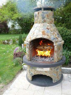 Gartengrillkamin Bauen - Gartenkamin An Der Terrasse | Haus And Garten Feuerkorb Im Garten Gestaltungstipps