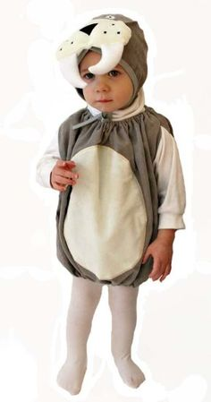 Walrus Costume - make the body to go over the sweatsuit and make a little hat with the tusks and face?