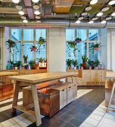 Breakfast area at Generator Hostel Berlin Mitte