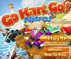 http://flashok.ru/igrat-online/4110-go-kart-go:-nitro/    Вам надо приехать первым на финиш, чтобы набрать очки и отрыть новые трассы. Во время ошеломительных гонок собирайте подарки, в которых будут разные полезности: ракеты, масло, ураганы и др, что позволит остановить оппонентов. Это очень веселые гонки с участием разных забавных зверушек - играйте и поднимайте себе настроение!