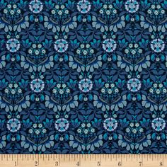 Liberty of London Classic Tana Lawn Persephone Aqua from @fabricdotcom  From the world famous Liberty Of London, this exquisite cotton lawn fabric is finely woven, silky, very lightweight and ultra soft. This gorgeous fabric is oh so perfect for flirty blouses, dresses, lingerie, even quilting. Colors include shades of blue.