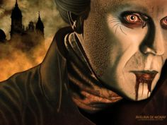 Dracula Wallpaper by Avelina De Mornay.  Follow the link to Lily's award-winning webzine and blog... http://lilywight.com/2012/06/08/dracula-the-un-dead-bram-stoker-lives/