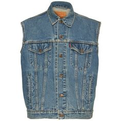 Cloak Levi's Denim Vest. Re-vamped sleeveless denim jacket, with a front button fastening, stitching running throughout with a washed out finish. Unique piece as none of them are exactly the same. £24.99