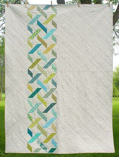 (GJF) Quilt: pattern. Not white though - quilt back idea.