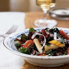"""Armed with a hefty bag of chard from our first garden, I pulled out my old vegetarian cookbooks and came up with this pasta dish,..."
