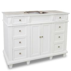"Elements VAN094-48-NT Painted White Douglas Douglas Collection 48"" Inch Bathroom Vanity Cabinet Elements,http://www.amazon.com/dp/B00F9GDZIE/ref=cm_sw_r_pi_dp_GmqOsb1ZQ8SXMTJN Amazon $805"