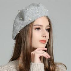 86a7c715c91de Peal french beret hat for women winter berets wool hat