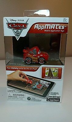 NEW NIB Disney Pixar CARS 2 AppMates LIGHTNING McQUEEN Mobile App Toy For iPad