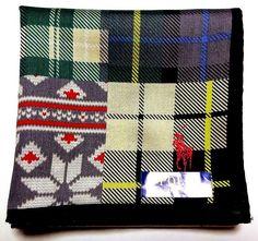 POLO Ralph Lauren Handkerchief hanky scarf bandana Green Grey Check Auth New #PoloRalphLauren #DesignerArtist