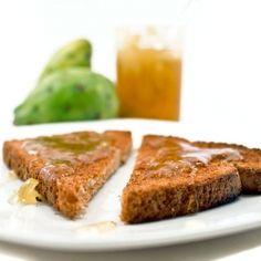 Homemade prickly pear jam from an Italian recipe.