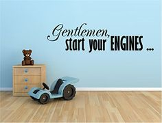 START YOUR ENGINES Racecar Racing Cars Nascar Theme Boys Room Sign Pick Color HP