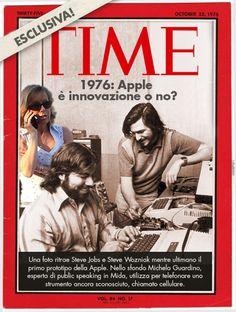 1976: il primo prototipo della Apple e Michela Guardino.