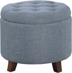 100  Farmhouse Themed Ottomans For Your Rustic Living Room! Discover the best farm home ottomans and oountry ottomans you can find anywhere. Round Tufted Ottoman, Ottoman Footstool, Ottomans, Farmhouse Living Room Furniture, Apartment Furniture, Bedroom Apartment, Stools With Drawers, Fabric Storage Ottoman, Amazon
