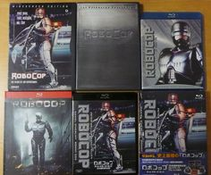 Robocop Collection: First US dvd, Criterion dvd, Sony US blu ray release (withdrawn), French blu ray release and Japanese blu ray release