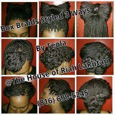 Box braids w/style