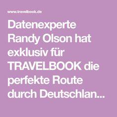 Datenexperte Randy Olson hat exklusiv für TRAVELBOOK die perfekte Route durch Deutschland kalkuliert. Der Roadtrip führt vorbei an 50 Sehenswürdigkeiten.