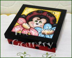 Tays Rocha: Caixas bichinhos de jardim - Pintura Country #artesanato #pinturacountry #crafts #countrypaint #ateliermundocountry #taysrocha