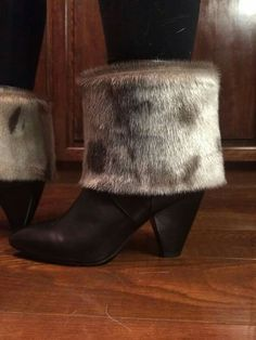 """Sealskin Boot Toppers """"All this fasion stuff makes me really sad"""" Beadwork, Beading, Boot Toppers, North Pole, Furs, Fasion, Seal, Sewing Projects, Booty"""