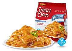 1 - Smart Ones portion controlled meals that I love - Cheese Ravioli with Tomato Basil Sauce - Weight Watchers® Smart Ones® Weight Watchers Smart Ones, Weight Watchers Meals, Best Frozen Meals, Movie Rewards, Tomato Basil Sauce, Cheese Ravioli, High Fiber Foods, Snack Recipes, Snacks