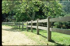 Two-rail fence. Perfect farm fence