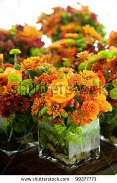 Google Image Result for http://image.shutterstock.com/display_pic_with_logo/1447/99377771/stock-photo-a-group-of-wedding-centerpieces-in-glass-jars-orange-and-green-colors-99377771.jpg
