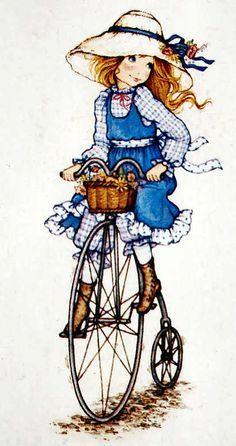 Miss Petticoat Ilustraciones InfantilesHolly Hobbie Cute Images, Cute Pictures, Images Vintage, Vintage Cards, Decoupage, Illustration Photo, Bicycle Art, Holly Hobbie, Illustrations And Posters